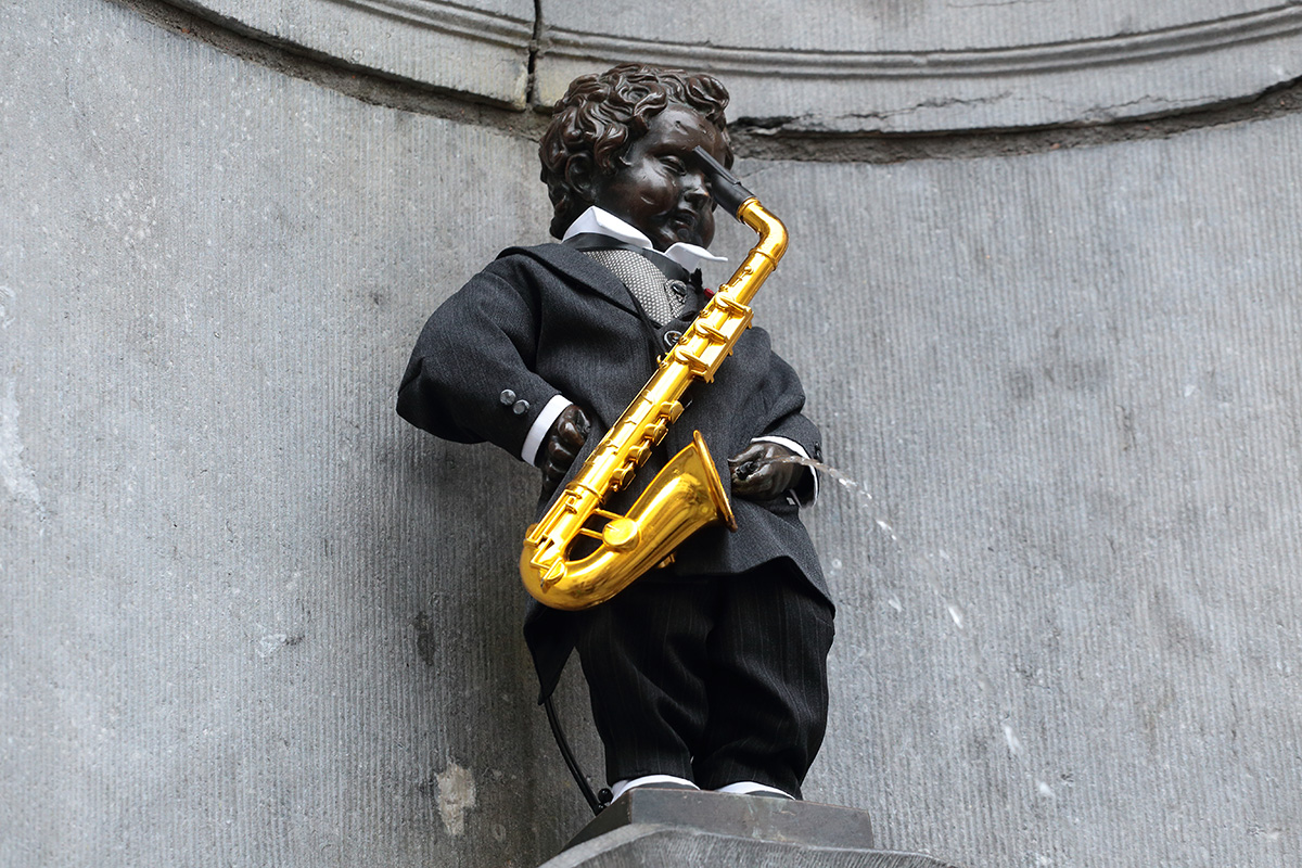 A Saxophone For Manneken Pis On The Th Birthday Of Adolphe Sax