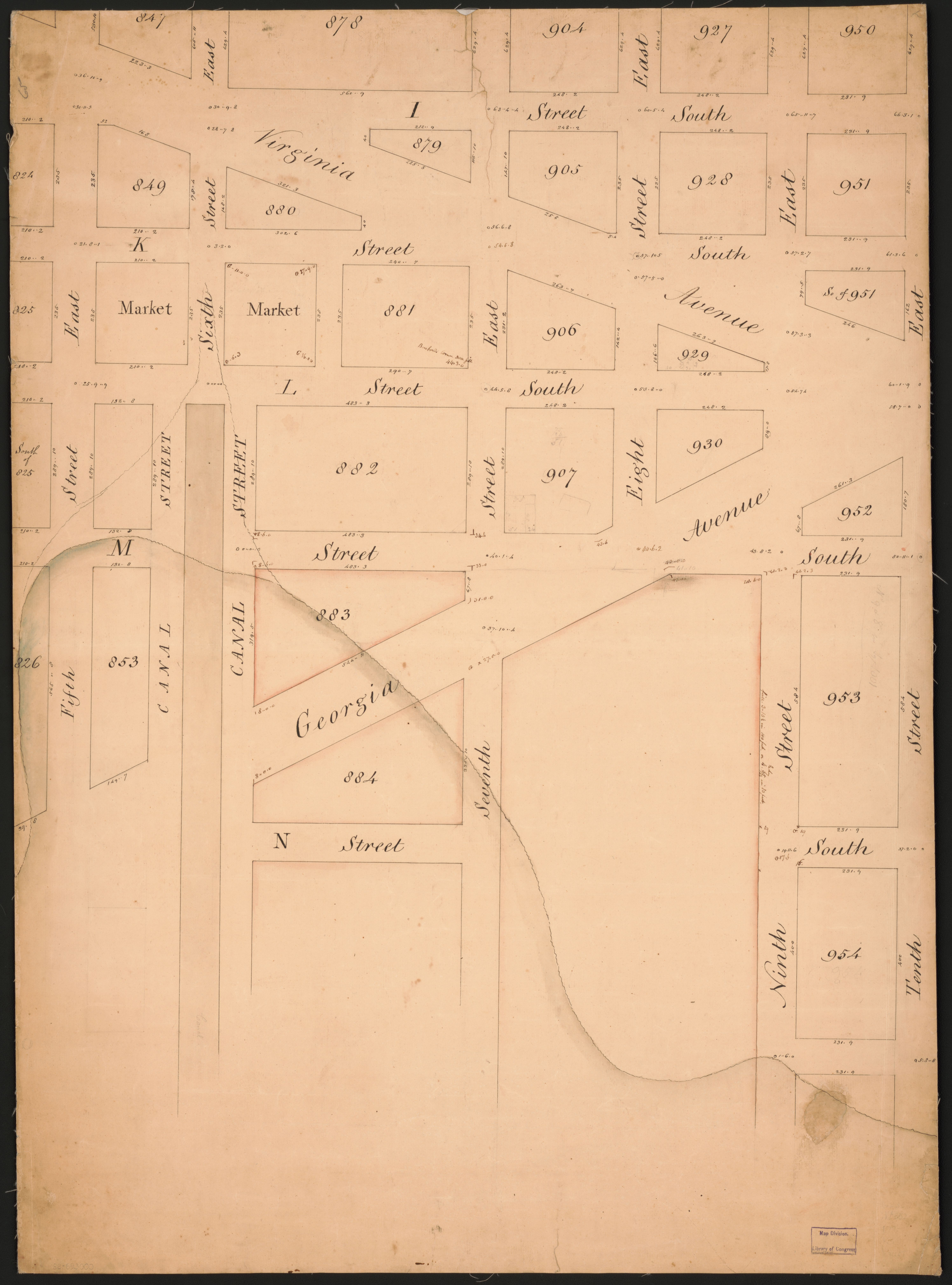 File Map Of Part Of S E Washington D C Now Occupied By The Navy