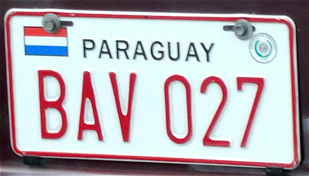 Vehicle registration plates of Paraguay - Wikipedia