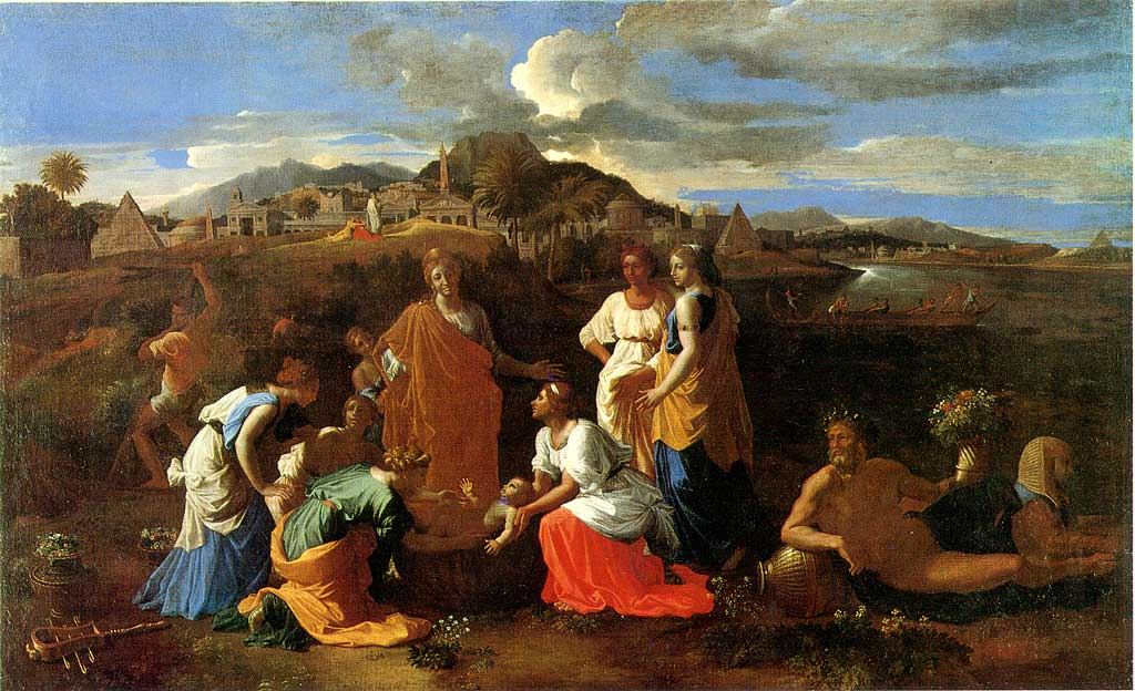 Nicolas Poussin, étude du