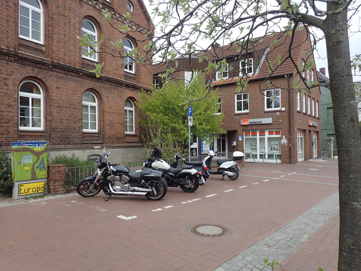 Motorradparkplatz Bad Segeberg Kirchstraße