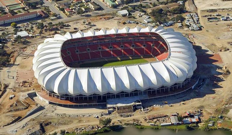 Besondere Dachkonstruktion des Nelson Mandela Stadium