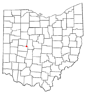 Location of North Lewisburg, Ohio