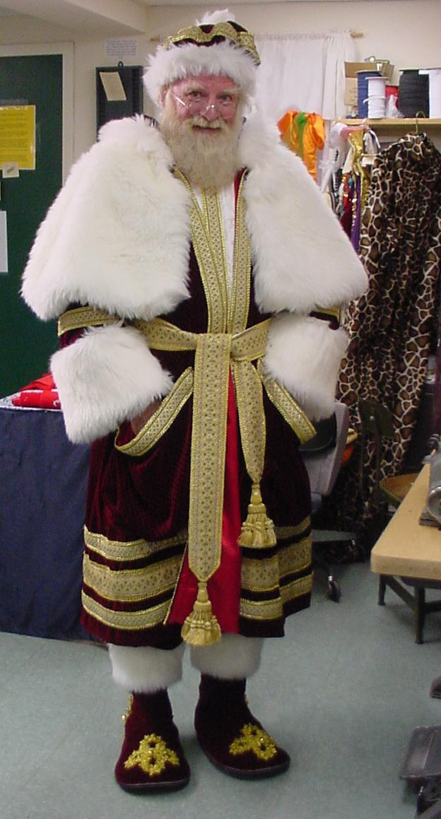 An old-fashioned Santa suit
