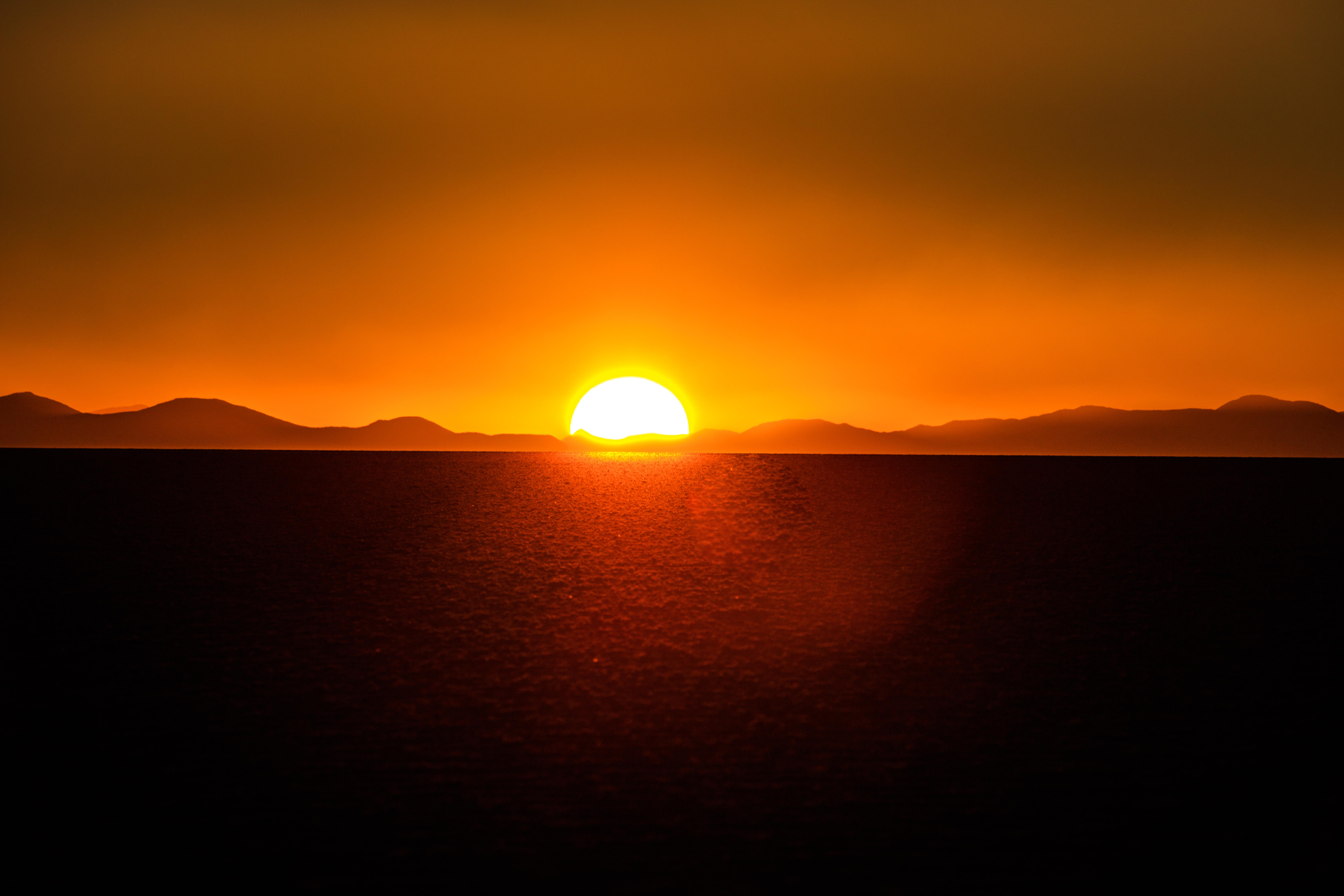 File On And Around Bolivias Salar De Uyuni Sunset