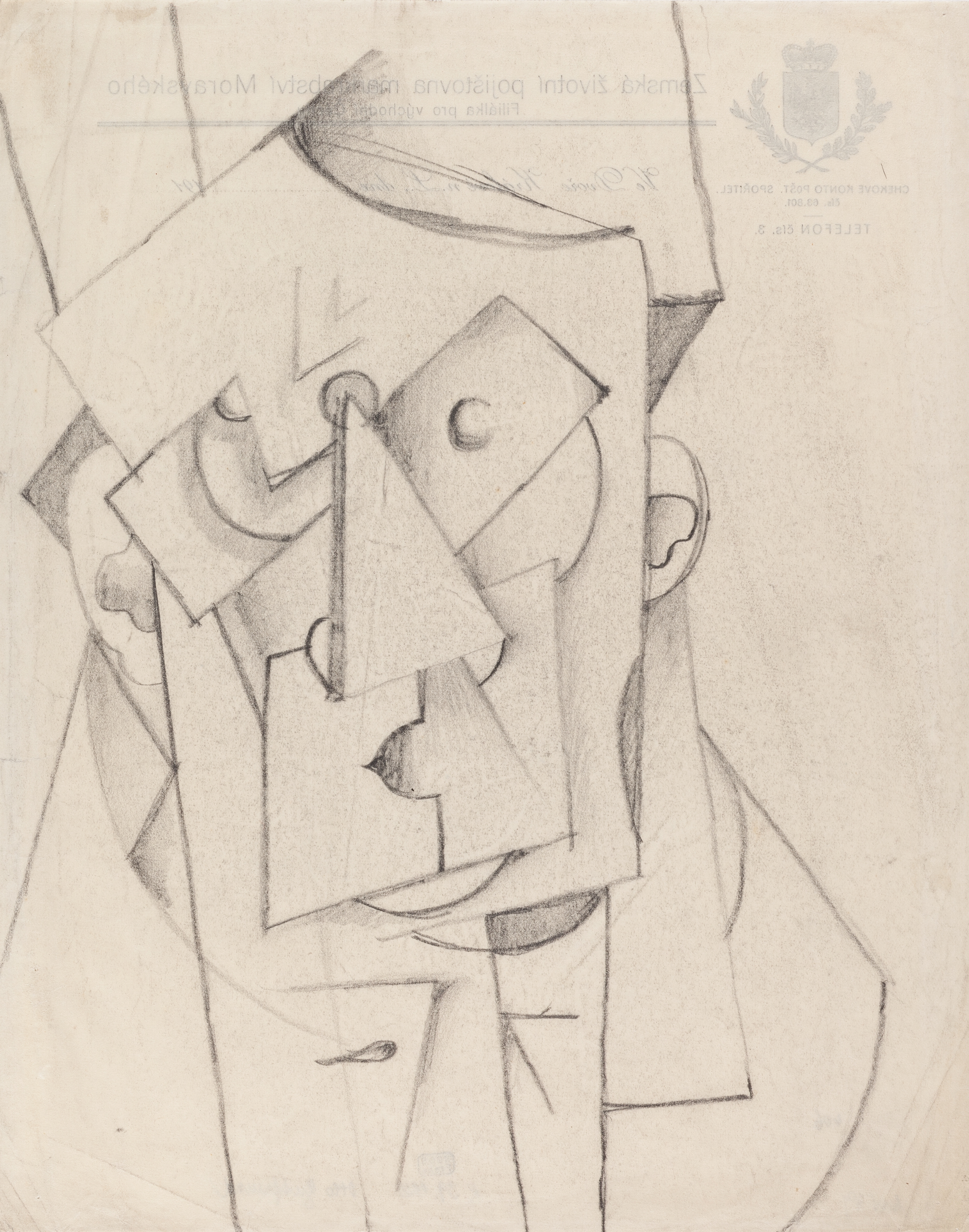 File Otto Gutfreund Kubisticka Komposice Hlava 1912 1913