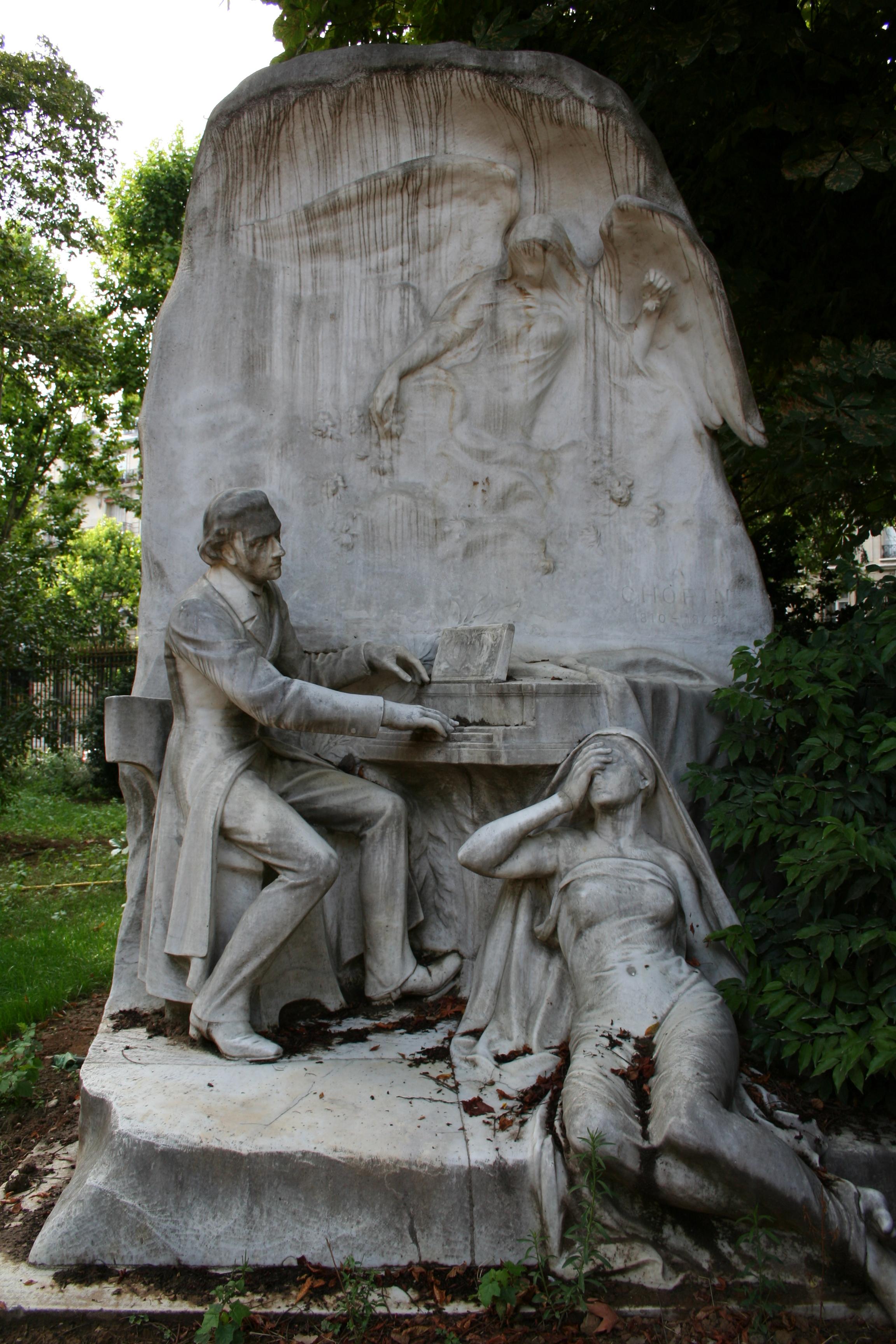 Monumento a Chopin en el parque Monceau, París