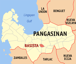 Map of Pangasinan showing the location of Basista