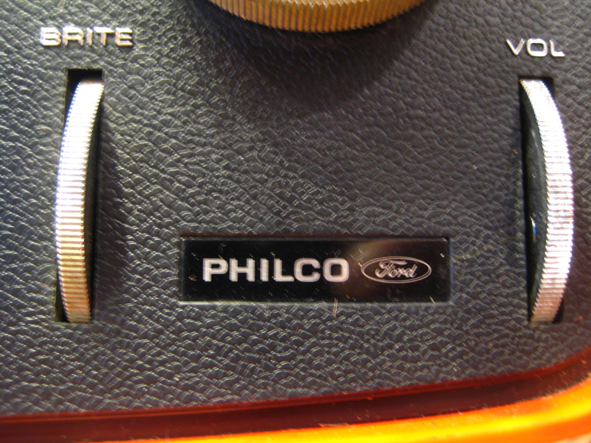 File Philco Ford Orange Retro TV 1970s logo bright