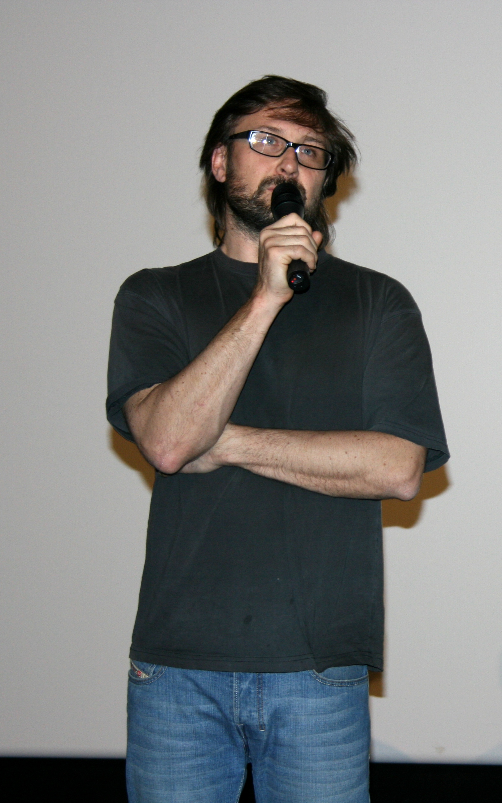 Morel at the preview showing of ''[[Taken (film)|Taken]]'' in Paris, 27 February 2008
