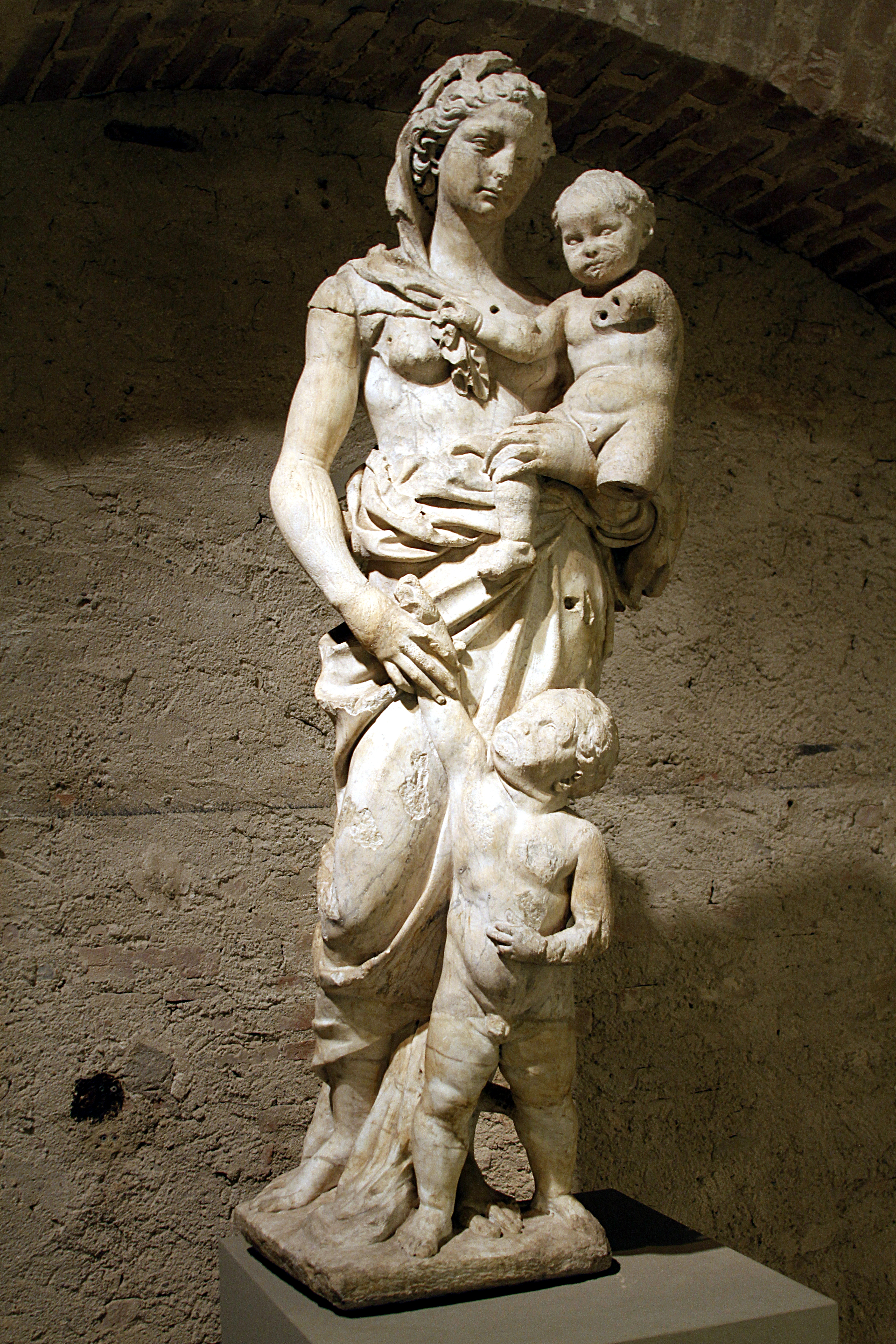 Ancient Gaia Statue fonte gaia - wikipedia