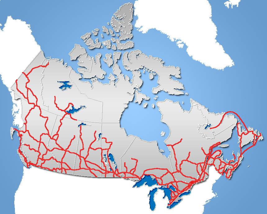 Road Map Of Northern Canada Numbered highways in Canada   Wikipedia