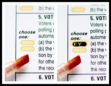 From: http://upload.wikimedia.org/wikipedia/commons/9/9b/Scantegrity_II_Ballot.jpg