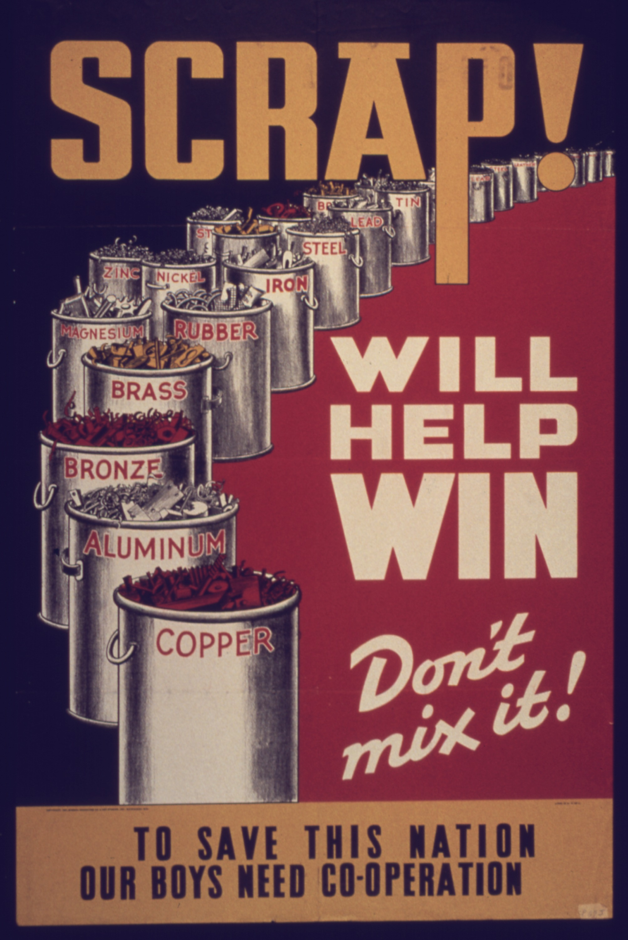 Scrap - Will Help Win - Quelle: Wikicommons http://upload.wikimedia.org/wikipedia/commons/9/9b/Scrap%5E_Will_Help_Win._Don%27t_Mix_it_-_NARA_-_533977.jpg