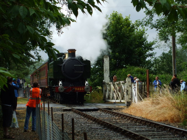 Steam train at Wymondham Abbey station. - geograph.org.uk - 1115990