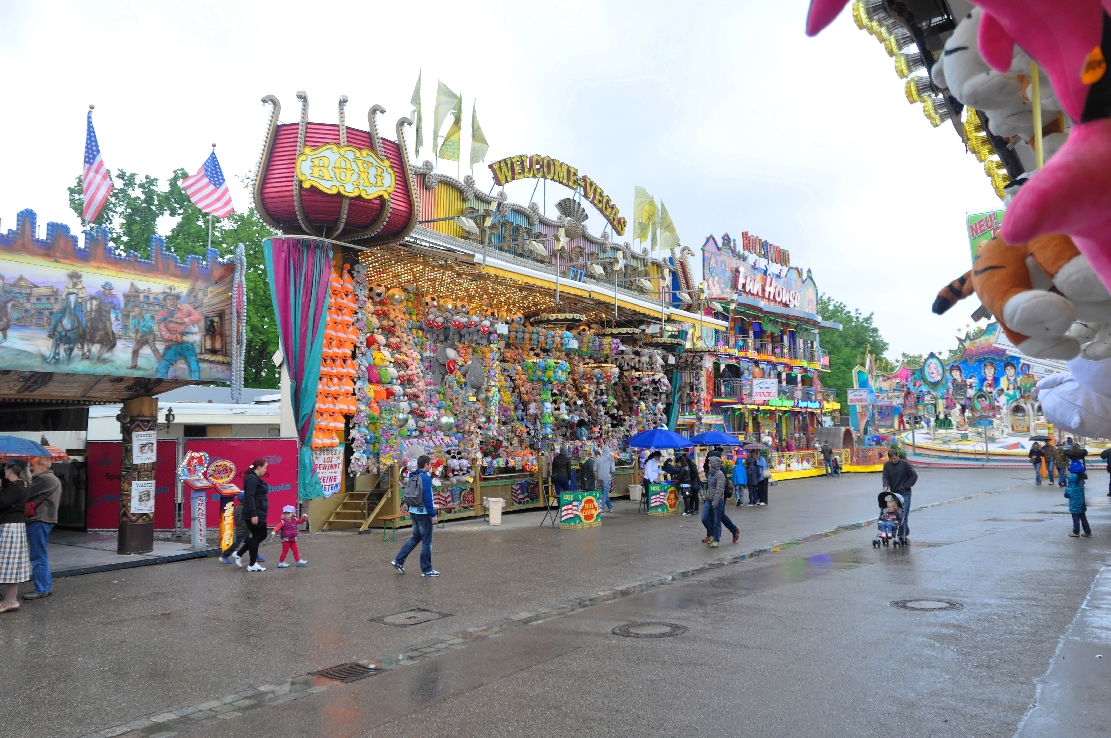 Frühlingsfest, Booths, Celebration, People, Fun