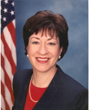 From commons.wikimedia.org: Susan Collins official photo {MID-69800}