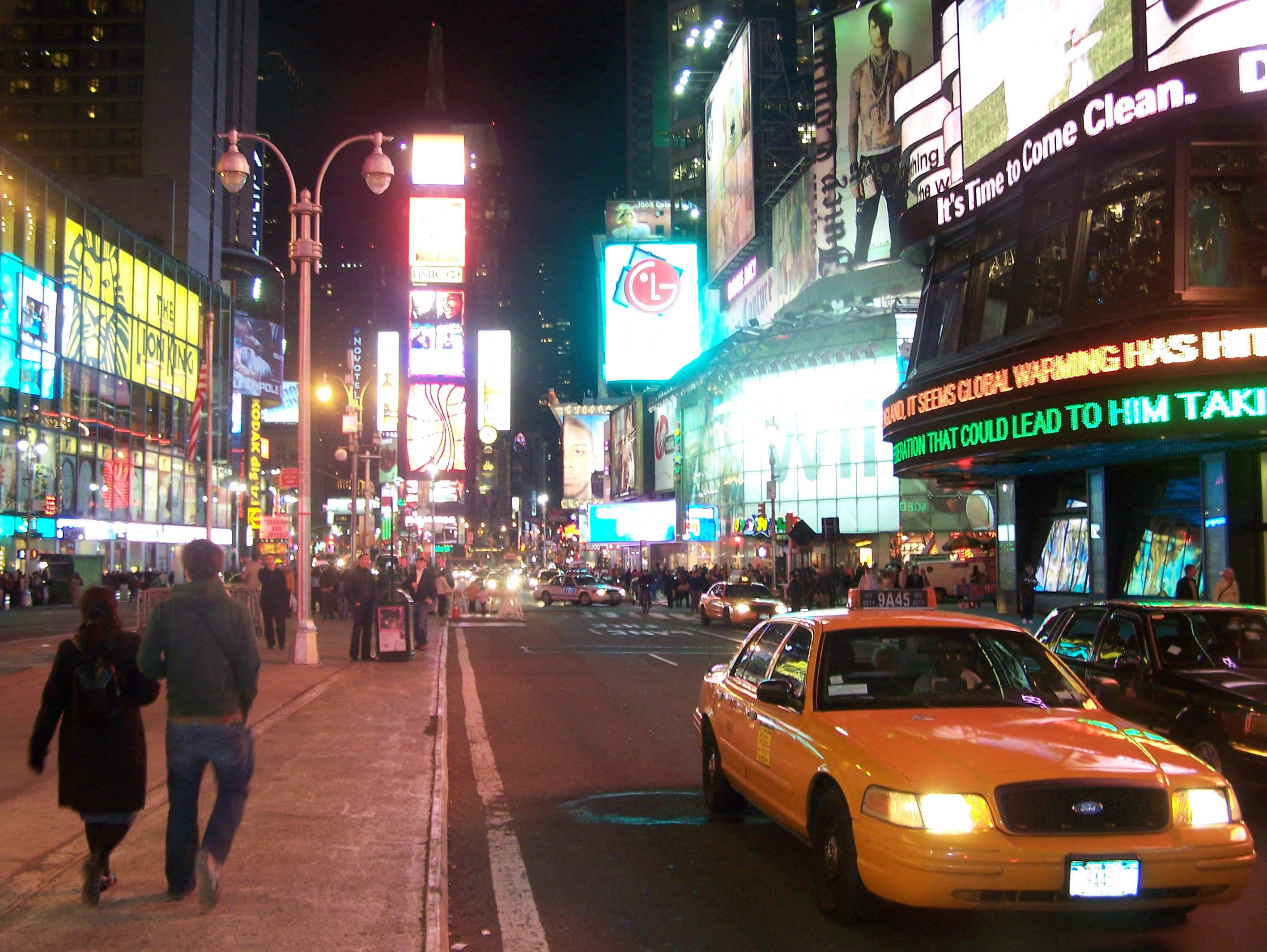 Description times square nuit