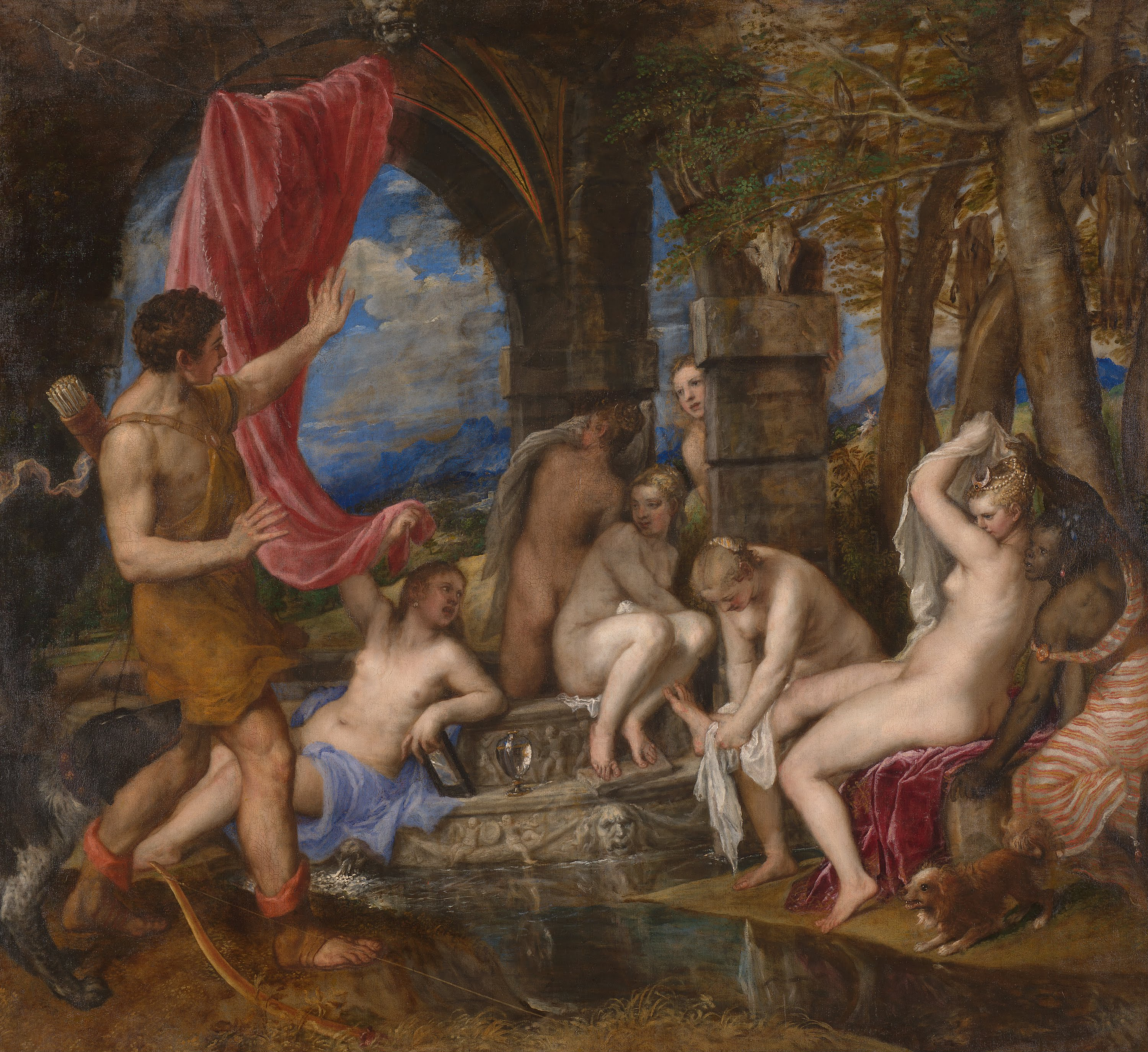 Titian's Diana and Actaeon poesie