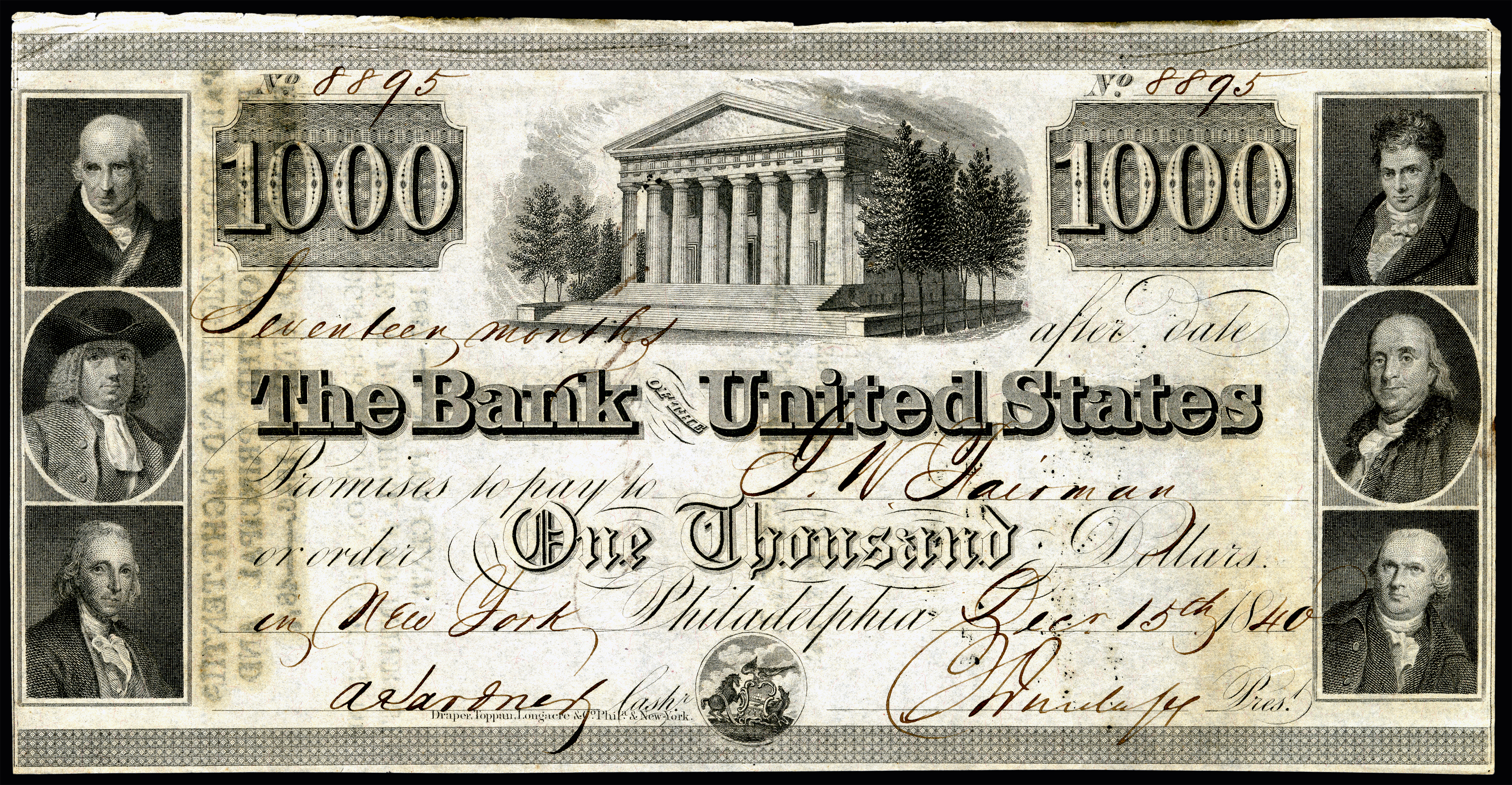 File Us 1000 Bank Of The United States Due 15 Dec 1840 Jpg