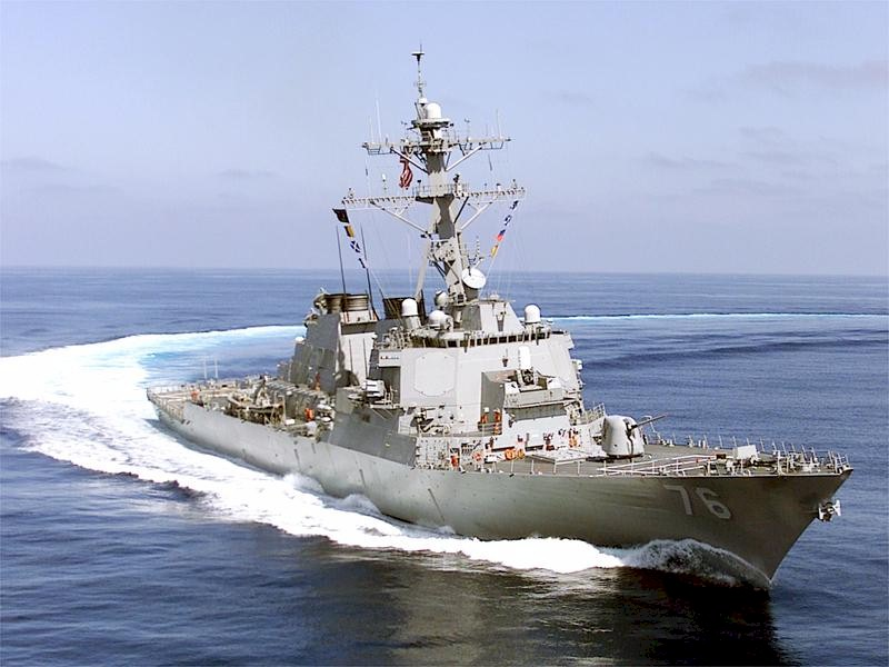 USS Higgins in the Pacific Ocean.
