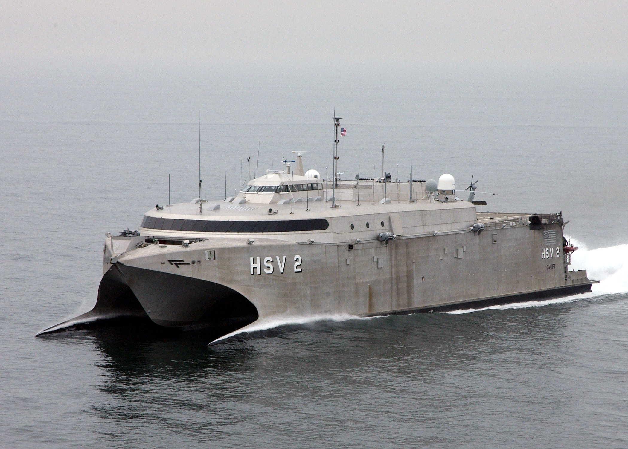 ... Two (HSV-2) Swift glides through the waters of the Atlantic Ocean.jpg