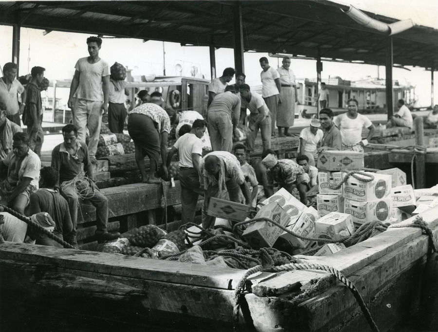 Unloading_lighter_at_Apia_Wharf%2C_Samoa_c.1975-85  Wire Harness on