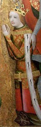 Václav IV. na votivním obrazu Jana Očka z Vlašimi