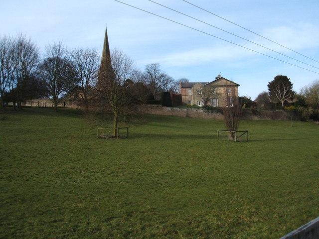 View of Masham Church, from footpath (Ripon Rowel Walk) - geograph.org.uk - 1221831