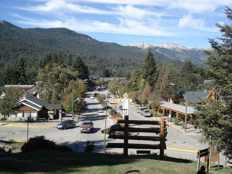 Localidad turística de Villa La Angostura, en la Patagonia de Argentinaa