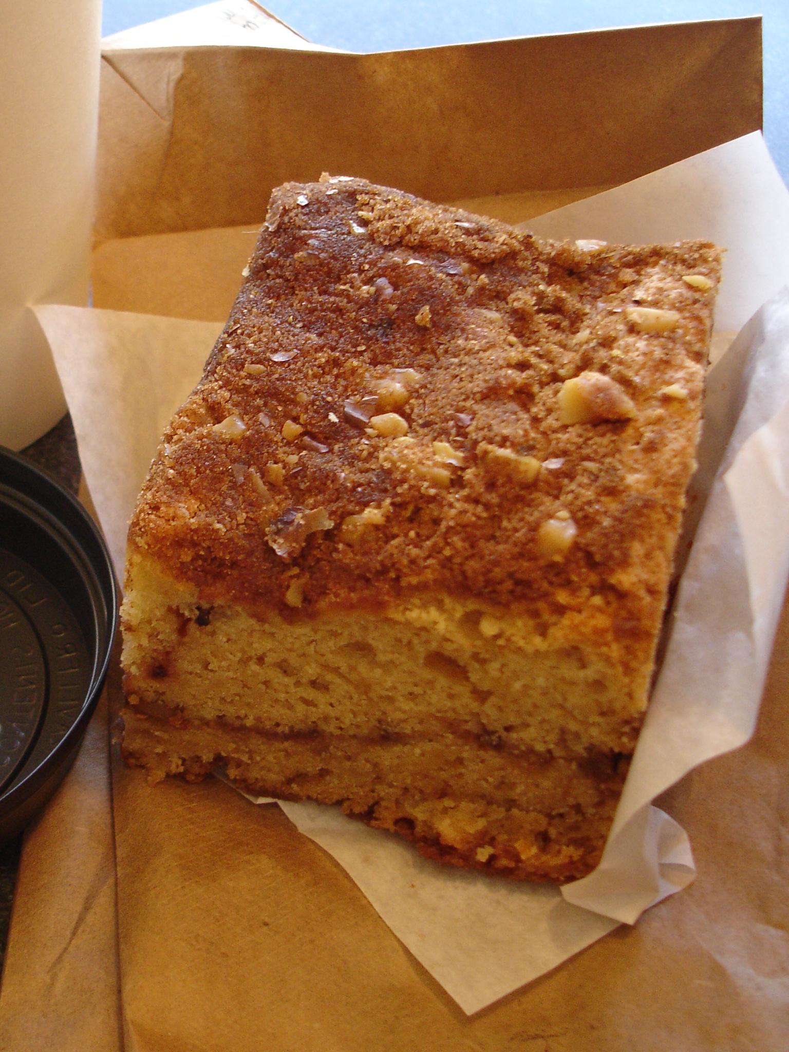 Cinnamon Walnut Coffee Cake Sour Cream