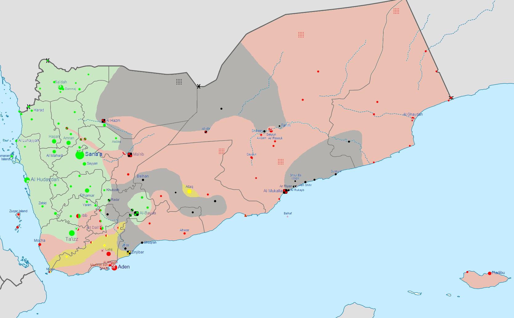 FileYemen crisis mappng  Wikimedia Commons