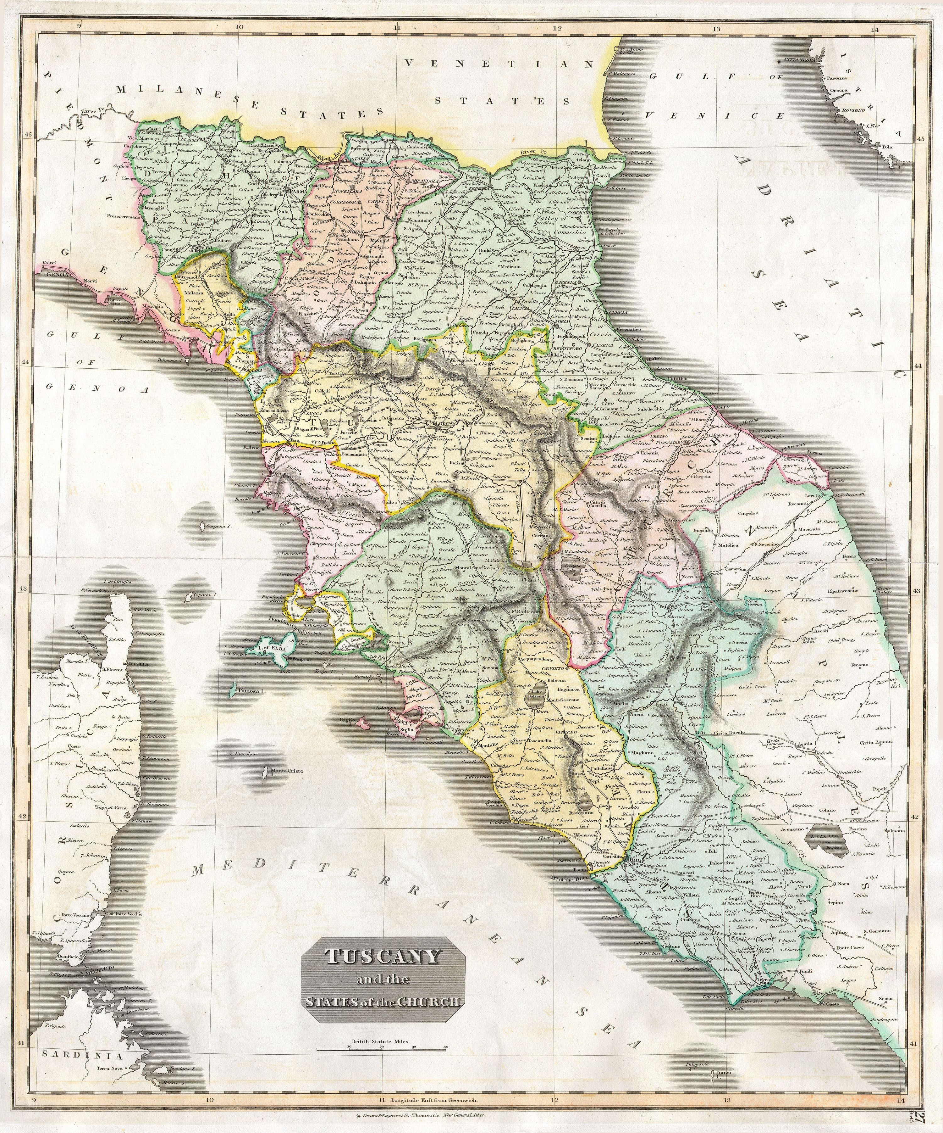 File Thomson Map Of Tuscany Florence Italy Geographicus - Map tuscany