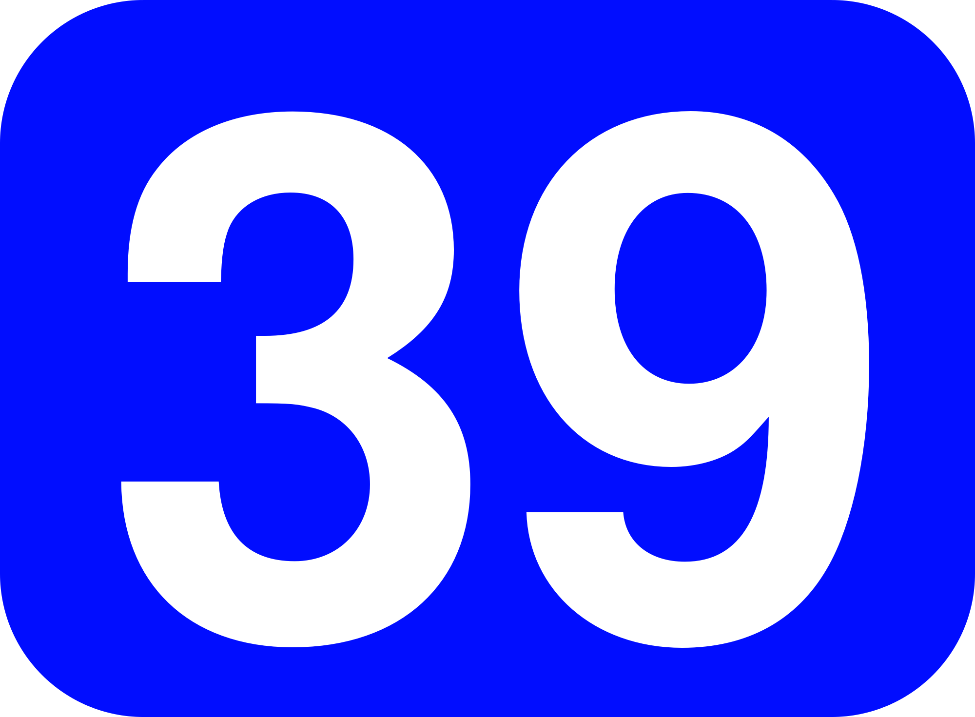 File:39 white, blue rounded rectangle.png