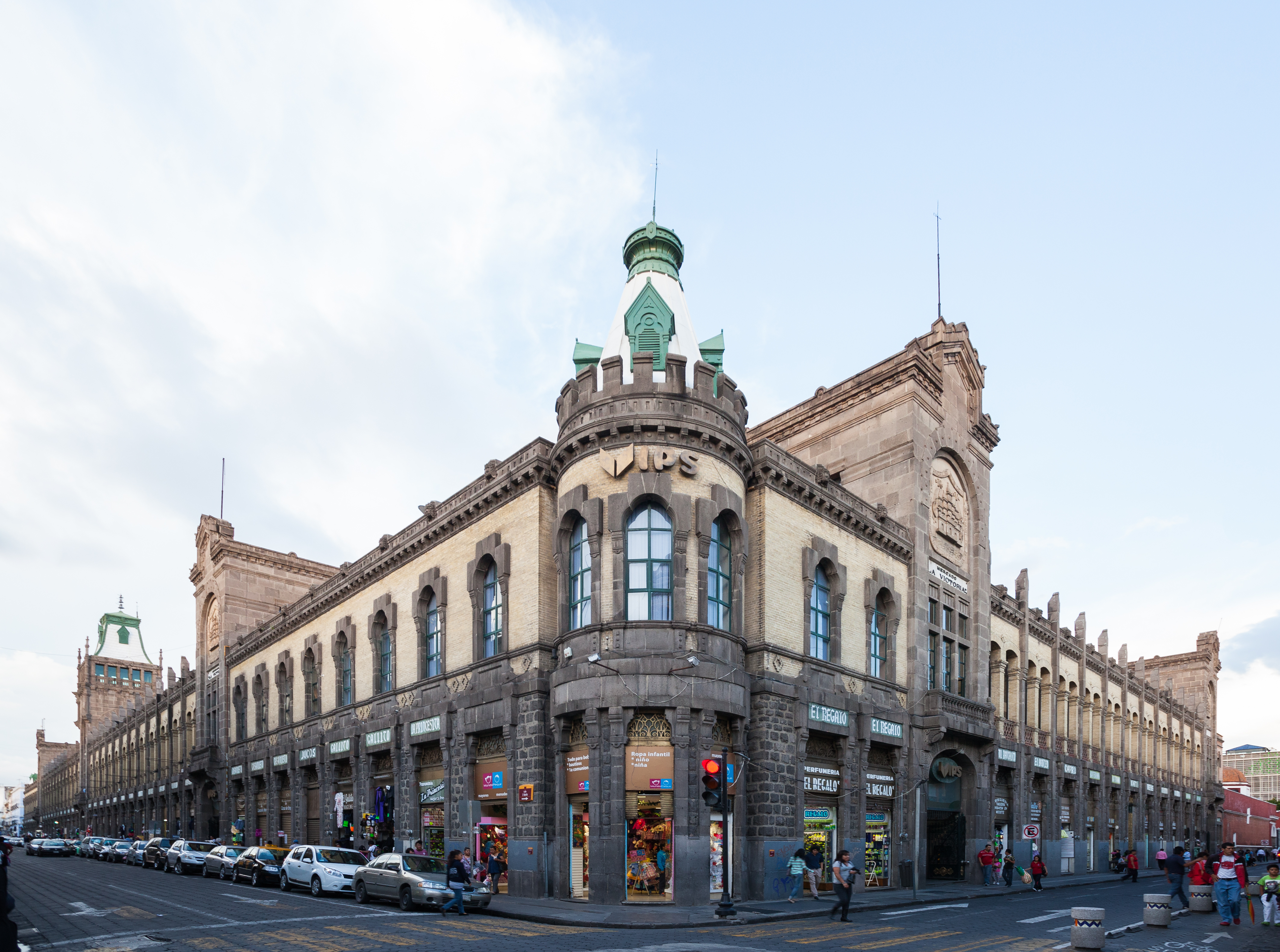 Vista exterior del Mercado La Victoria