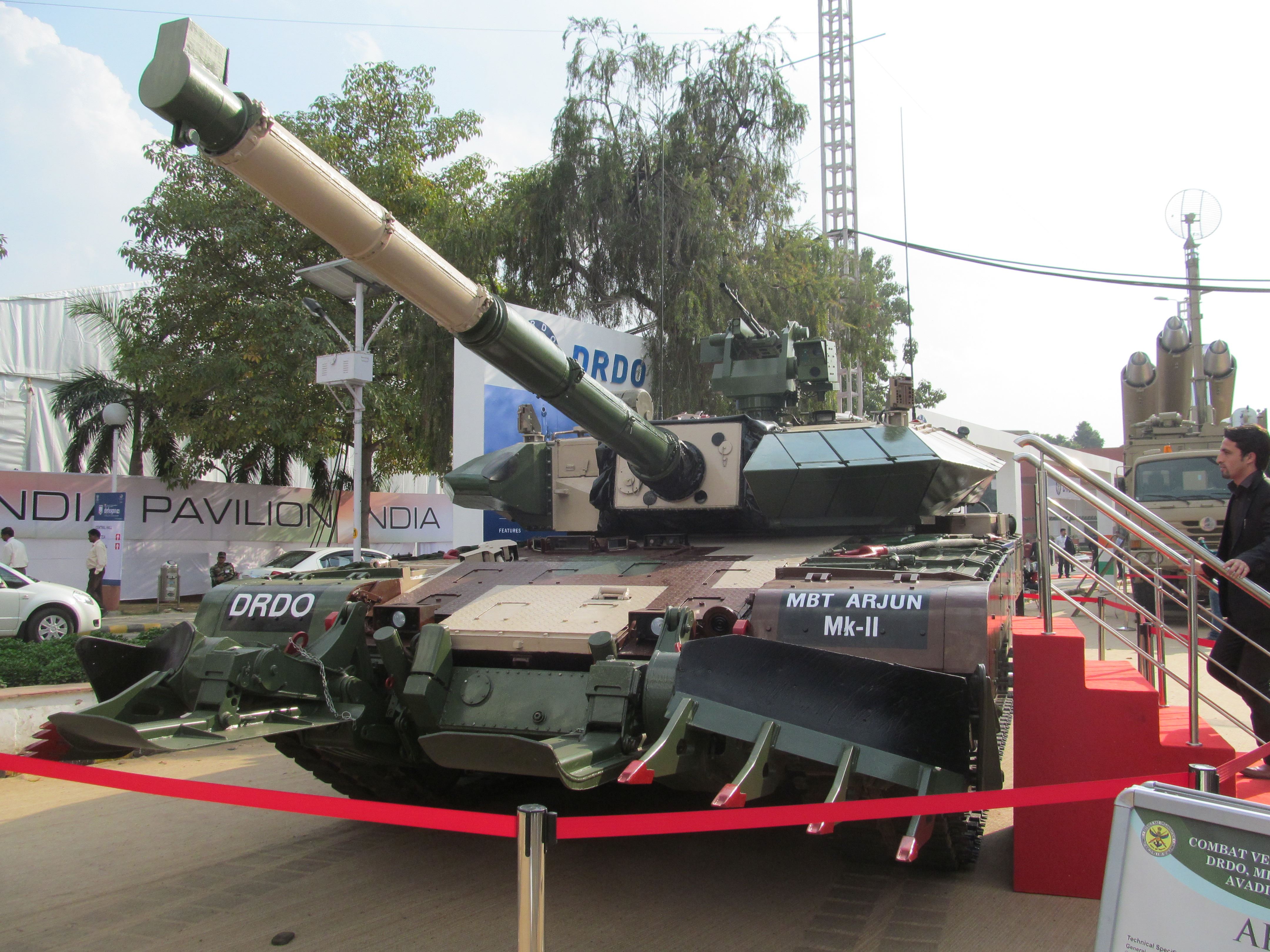 38099de3213f Arjun Mk II at DefExpo 2014 in the user configuration