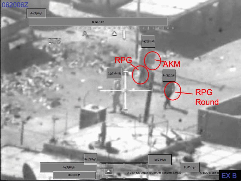 الغارة الجوية على بغداد في 12 يوليو 2007 (القتل الجماعي) ArmyReport_ExhibitB