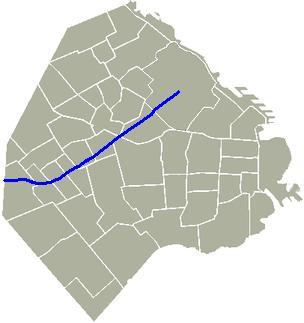Avenida Juan B Justo Mapa