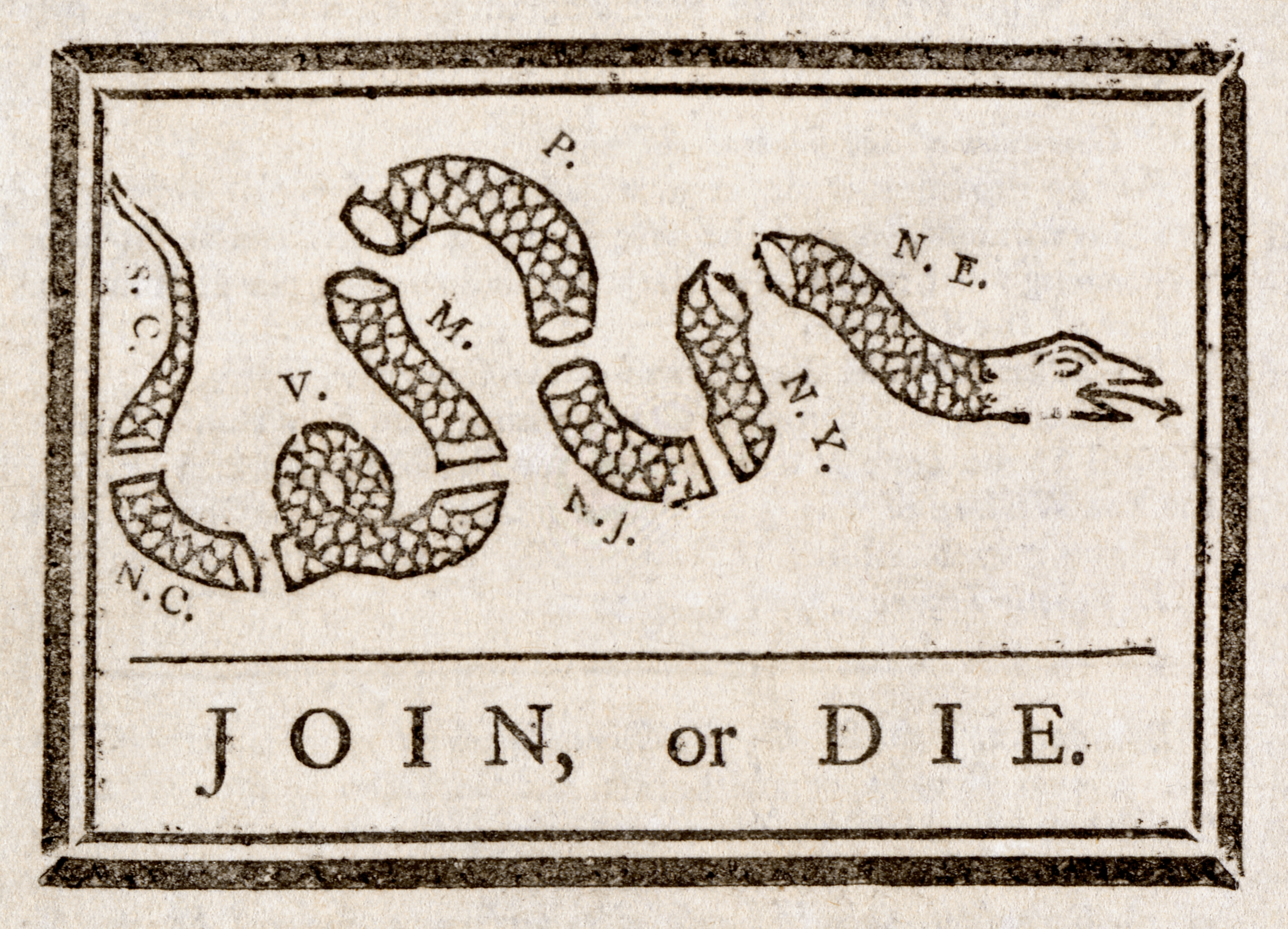 benjamin franklin join or die this political cartoon by franklin urged the colonies to join together during the french and n war seven years war