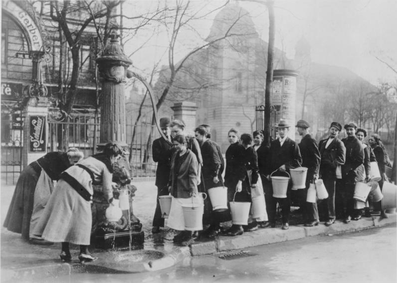 Trinkwasserversorgung 1920