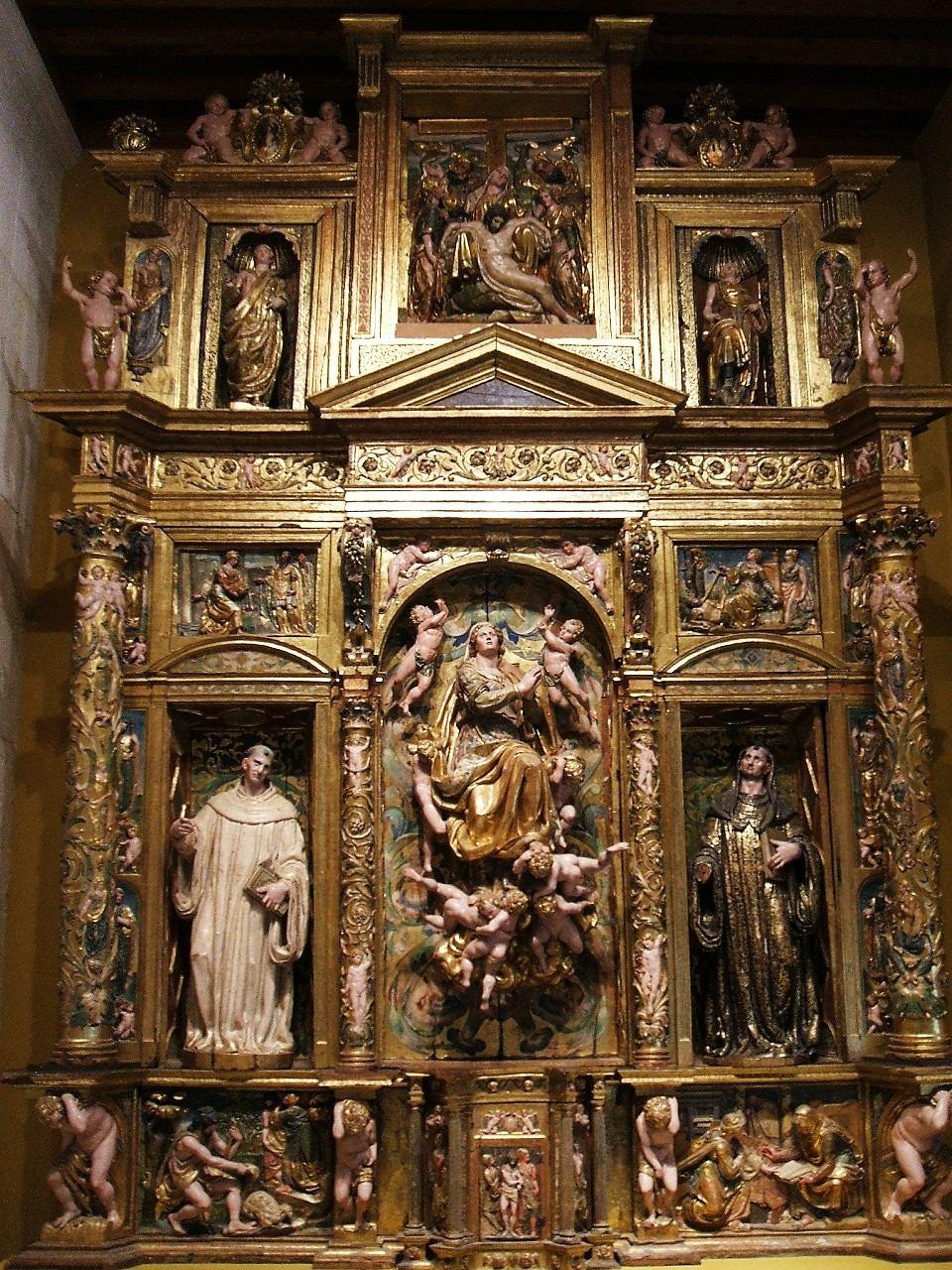 Museo De Burgos Retablo De La Asuncion 1581 De Pedro