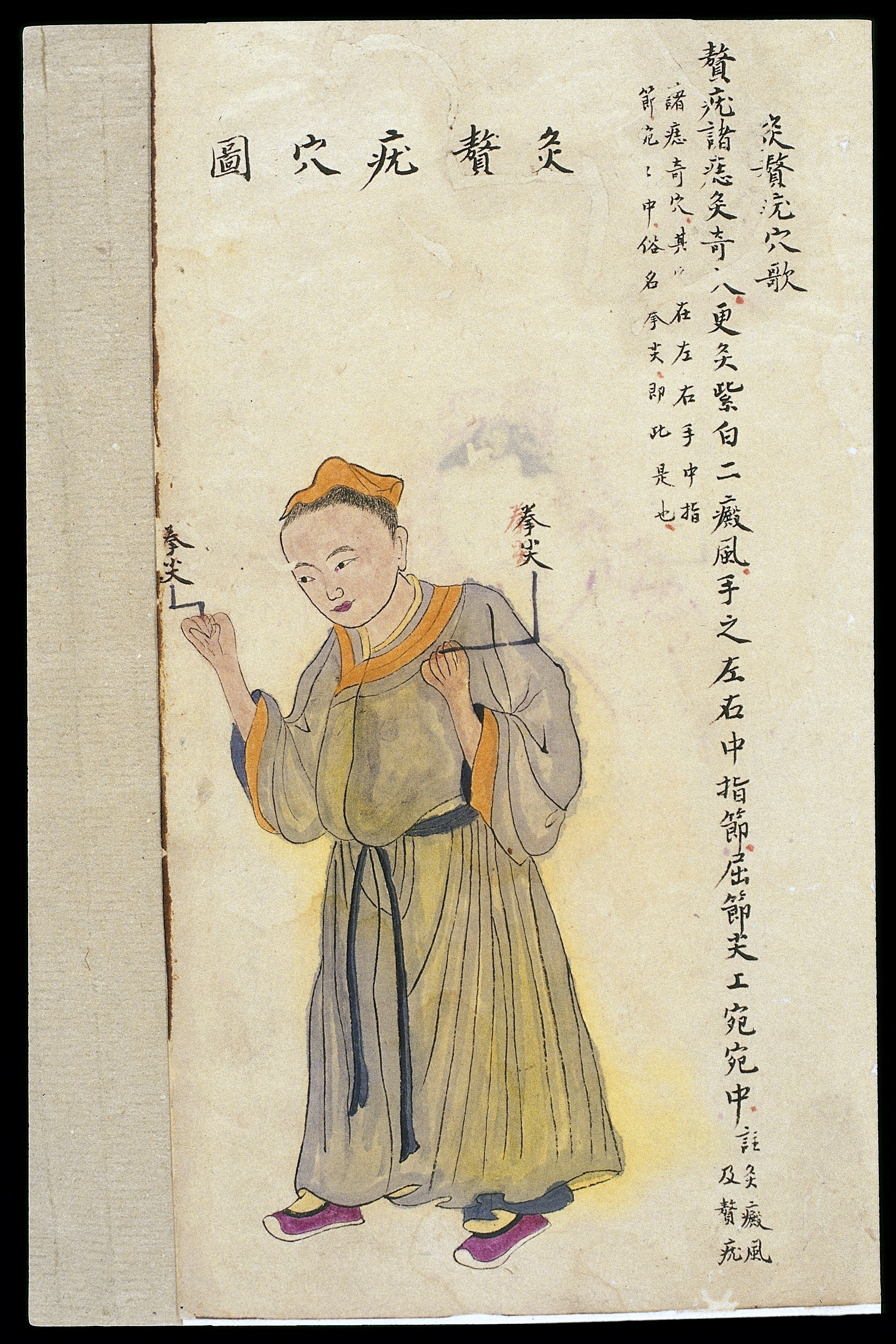Trigger Points Chart: C19 Chinese MS moxibustion point chart; Wellcome L0039511.jpg ,Chart