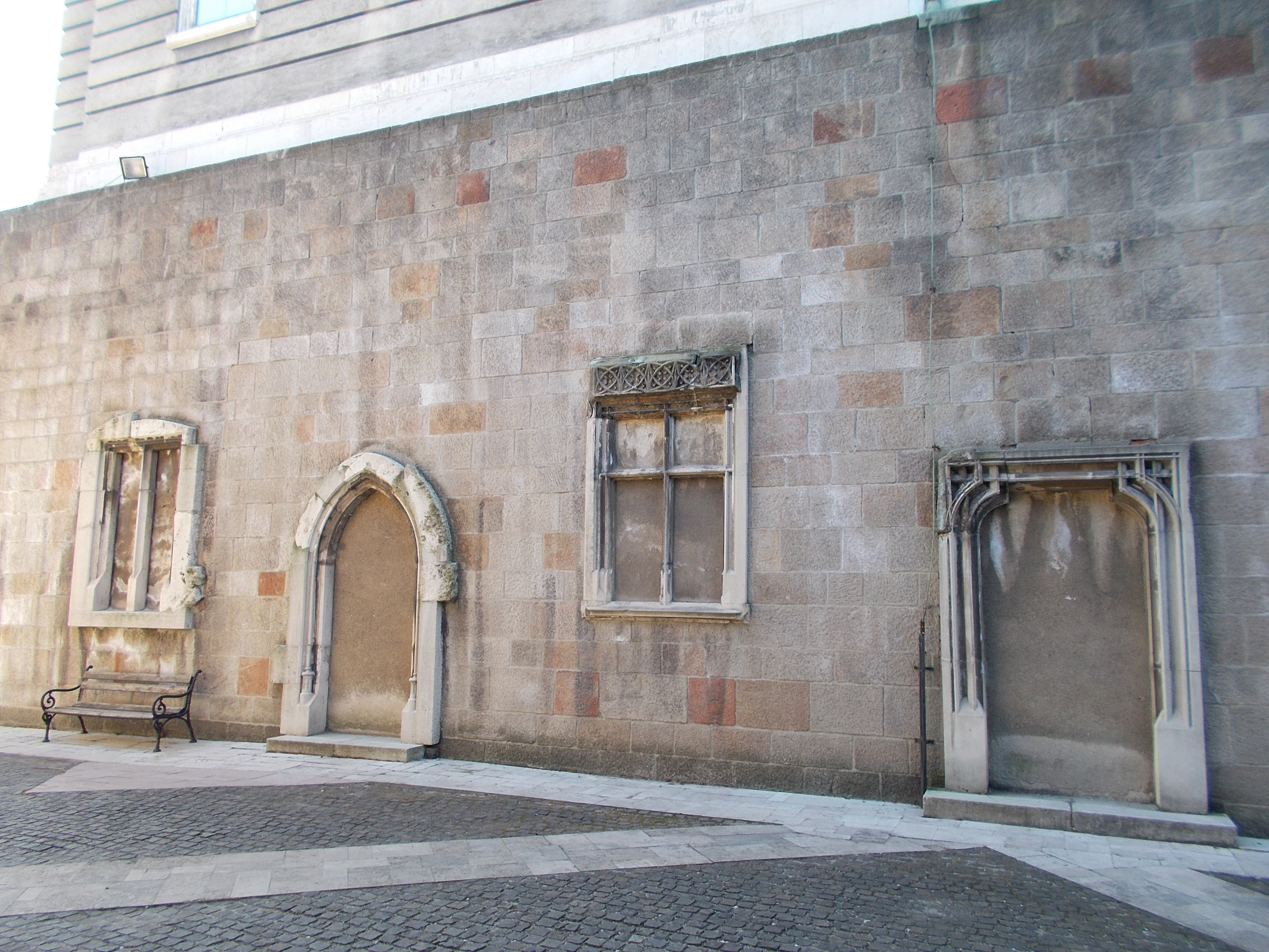 File:Castle Hill, Medieval Window And Door Frames, Buda Royal Palace.JPG