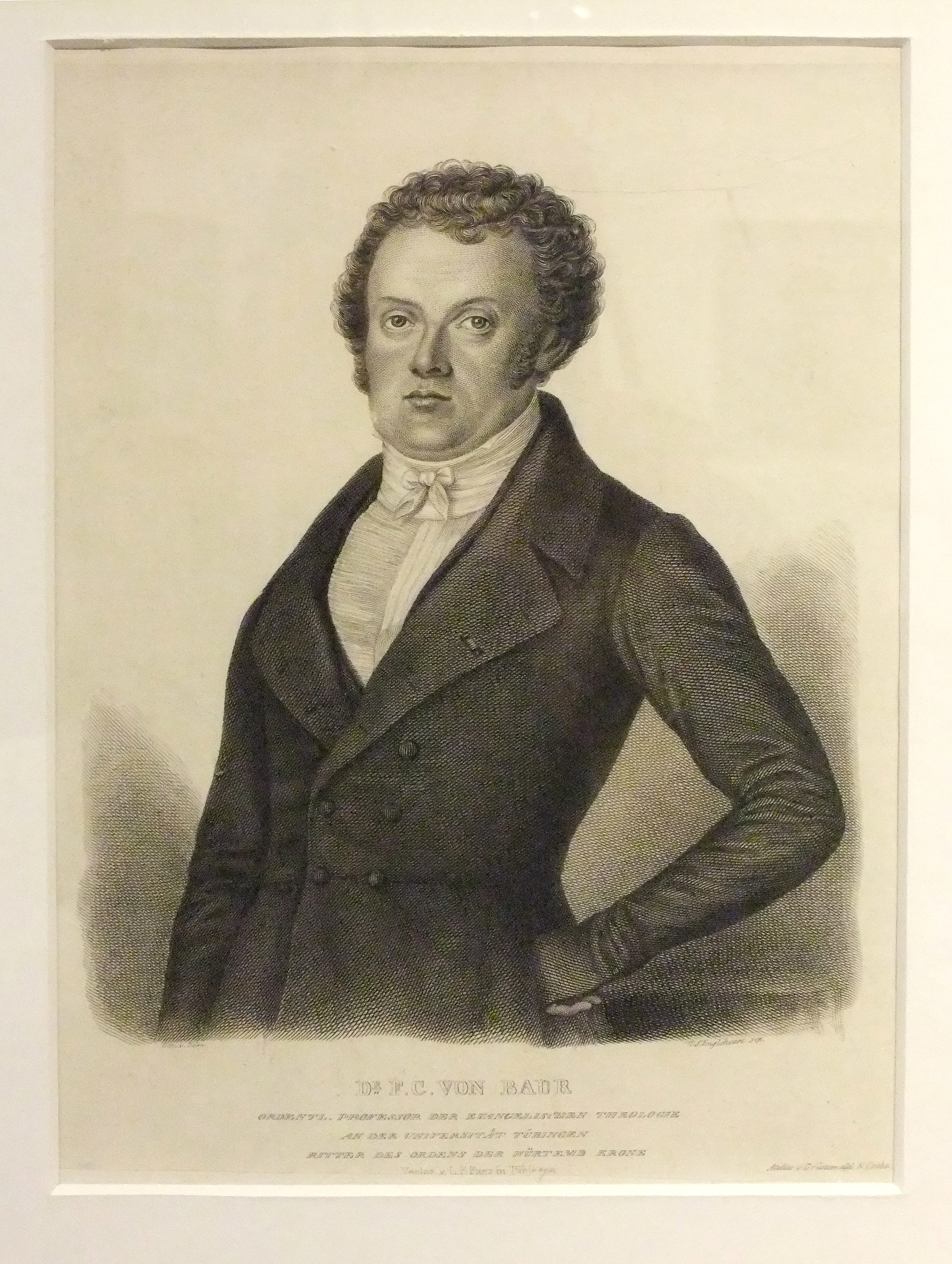 ''Dr. F. C. von Baur''<br />(Steel engraving by Christoph Friedrich Dörr, 1830s)