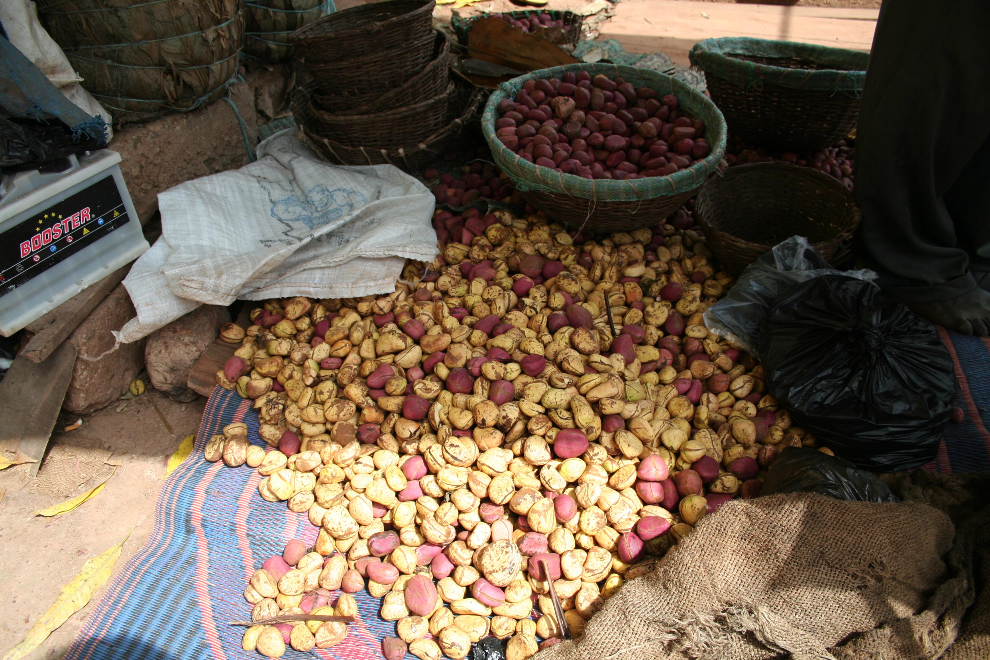 Kolanüsse auf dem Markt von Ouagadougou