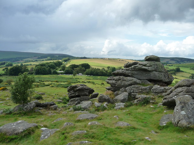 File:Dartmoor National Park , Hound Tor and Moorland - geograph.org.uk - 1416015.jpg