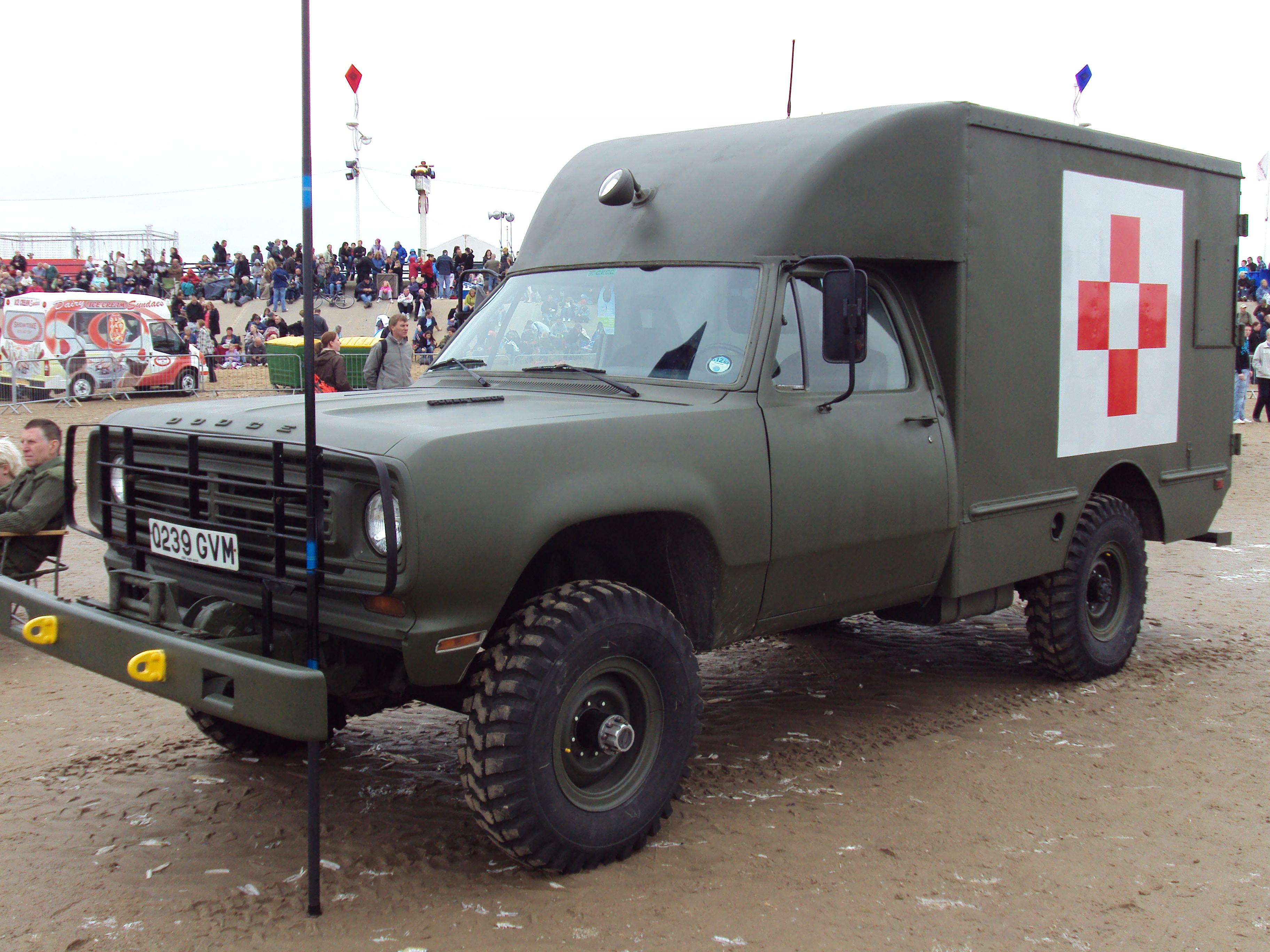 63 Power Wagon >> File:Dodge military ambulance, Southport.JPG - Wikimedia Commons