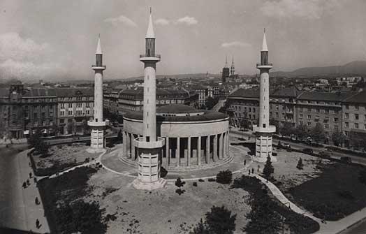 Datoteka Dzamija Zagreb Ndh Jpg Wikipedija
