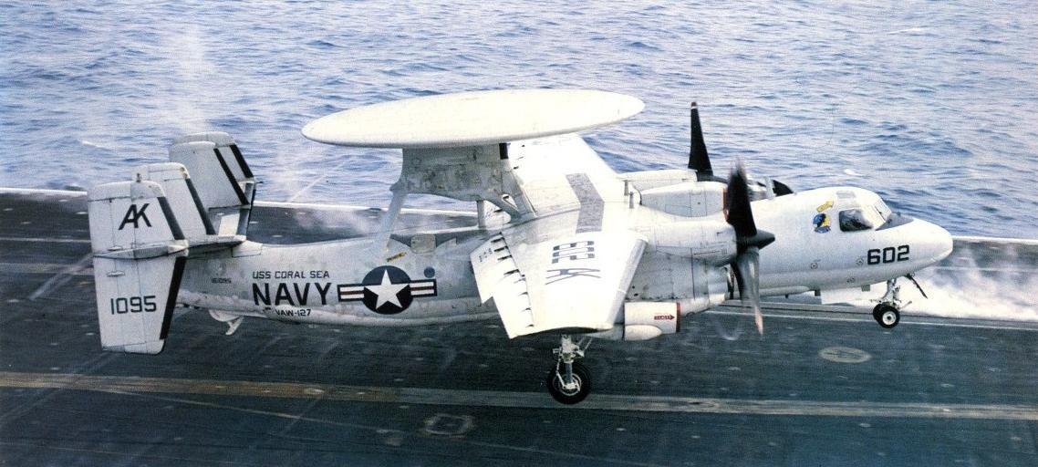 E-2C_landing_USS_Coral_Sea_1986.jpg