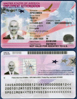 EAD Card - Employment Authorization Document Application Process